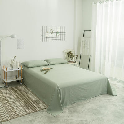 2018新款-单品纯色床单 1.8*2.3m 绿