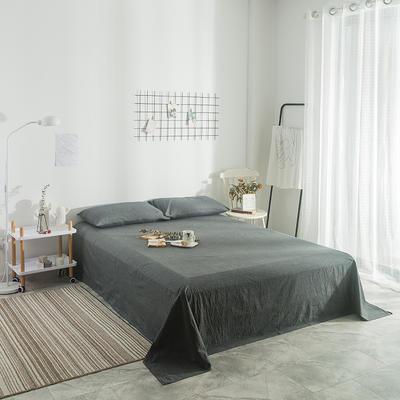 2018新款-单品纯色床单 1.8*2.3m 深灰