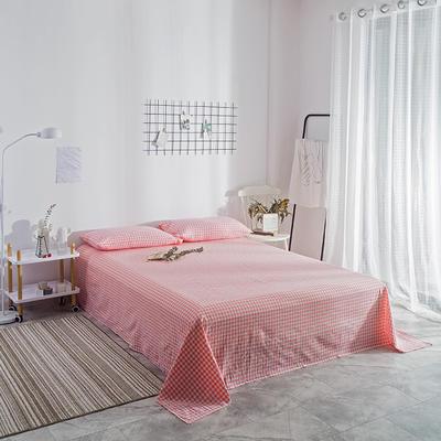 2018新款-单品花色床单 1.8*2.3m 粉红小格