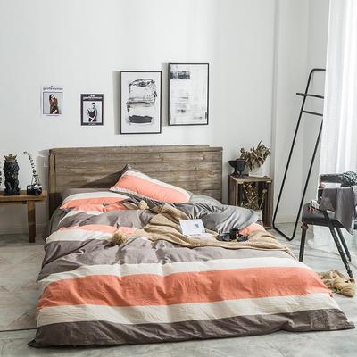 2019新款水洗棉+绒四件套 1.5m床四件套(床单款) 比萨尔