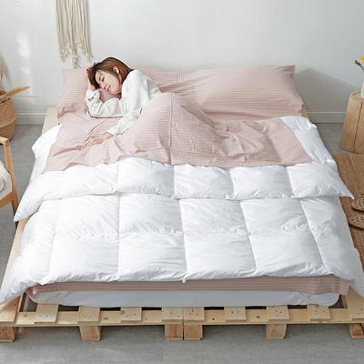 2019新款全棉色织水洗棉旅行睡袋 粉灰细条(80*210)