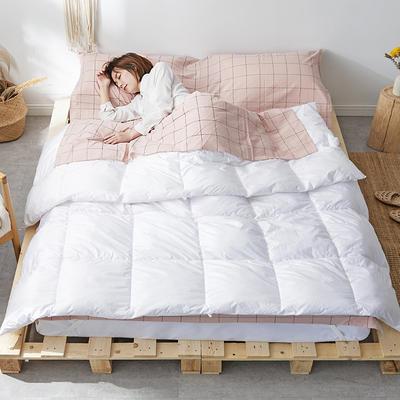 2019新款全棉色织水洗棉旅行睡袋 粉灰中格(80*210)