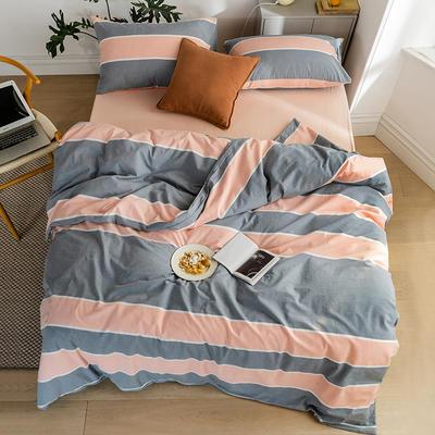 2020新款全棉色织单被套单床笠单床单单枕套 单枕套 48*74/只 威尔斯