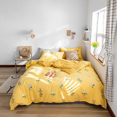 2020春夏新品水洗棉印花系列单品 单枕套(一只) 春意盎然-黄