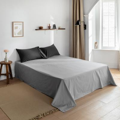 2021新款全棉色拼水洗棉四件套(单品床单) 240*250cm 深灰+浅灰