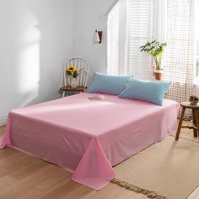2021新款全棉色拼水洗棉四件套(单品床单) 240*250cm 天蓝+红紫