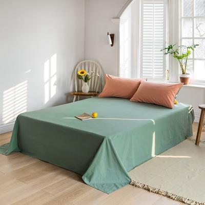 2021新款全棉色拼水洗棉四件套(单品床单) 240*250cm 杏色+牛油果
