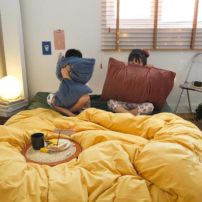 2020新款混搭天鹅绒系列四件套 1.2m床单款三件套 HD暖黄