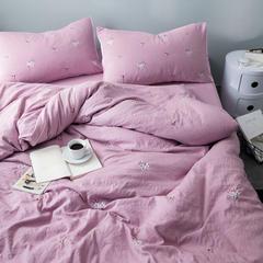 化纤水洗棉刺绣四件套 1.5m(5英尺)床 邂逅