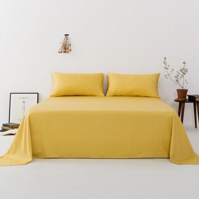 2019新款-天丝单品床单 160*230cm 姜黄色--床单