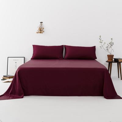 2019新款-天丝单品床单 160*230cm 玺红--床单