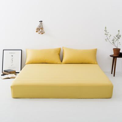 2019新款-天丝床笠单品 150*200cm 姜黄色--床笠