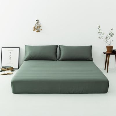 2019新款-天丝床笠单品 150*200cm 松绿--床笠