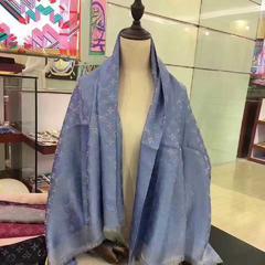 驴家金银线方巾 2