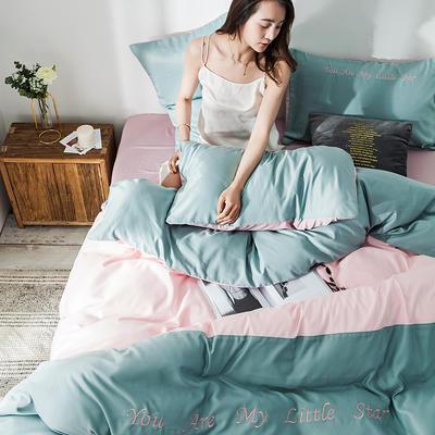 2019新款-天丝四件套冰丝真丝床单款水洗真丝床笠床上用品三件套 1.8m(6英尺)床 床单款 浅绿粉玉