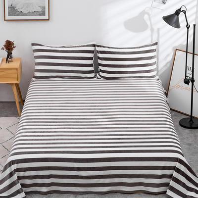 2019新款水晶絨單件床單 250cmx250cm 灰白1102