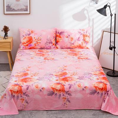 2019新款水晶絨單件床單 250cmx250cm 嬌靜繁華