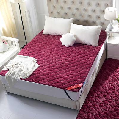 法莱绒床垫 0.9*200 玫红
