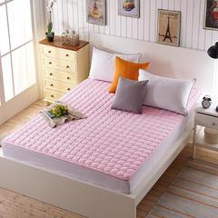 磨毛水洗床垫1cm厚 0.9*200 粉红