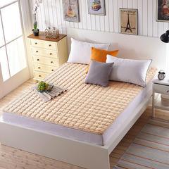 磨毛水洗床垫1cm厚 0.9*200 驼色