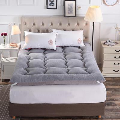 冲绒羊羔绒床垫 0.9米 灰色