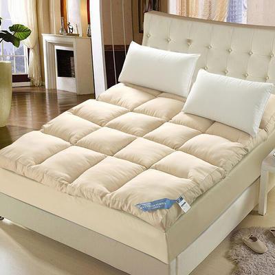 羽丝绒立体床垫 0.9m 驼色