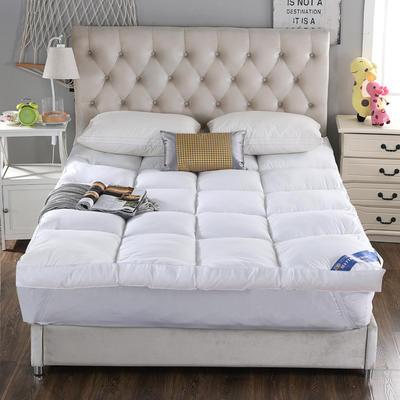 2018新款-立体羽丝绒床垫(立体羽丝绒床垫) 0.9*2 白色800
