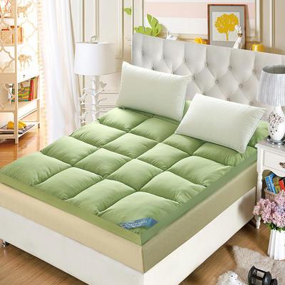 2018新款-立体羽丝绒床垫(立体羽丝绒床垫) 0.9*2 绿色800