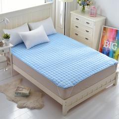 磨毛水洗床垫1cm厚  (特价清仓) 0.9*200 天蓝(特价清仓)