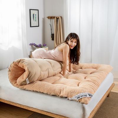 2019新款-羊羔绒床垫 0.9米 羊羔绒驼色