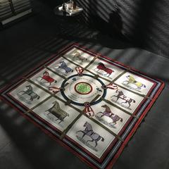 乐丁家纺  毛毯 150*150cm 爱马