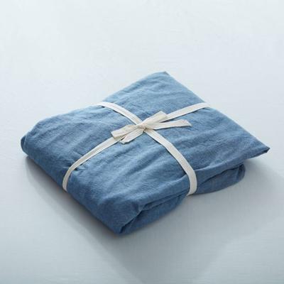 水洗棉单品(纯色系列)-床笠 120cmx200cm 牛仔蓝