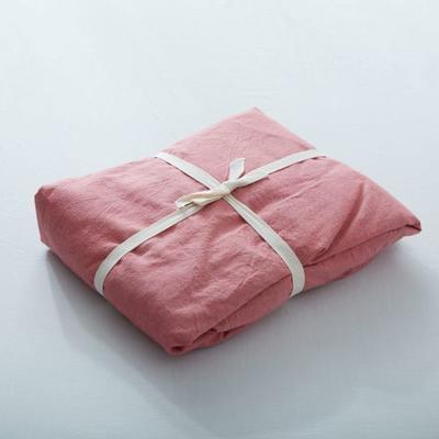 水洗棉单品(纯色系列)-床笠 120cmx200cm 燕脂