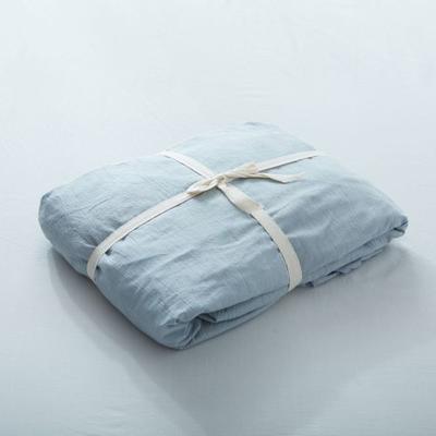 水洗棉单品(纯色系列)-床笠 120cmx200cm 浅兰