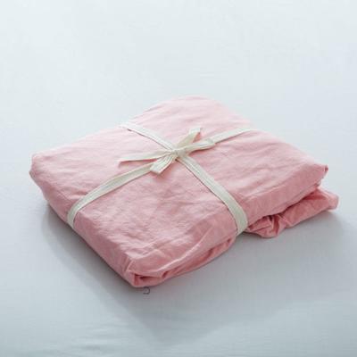 水洗棉单品(纯色系列)-床笠 120cmx200cm 纯粉色
