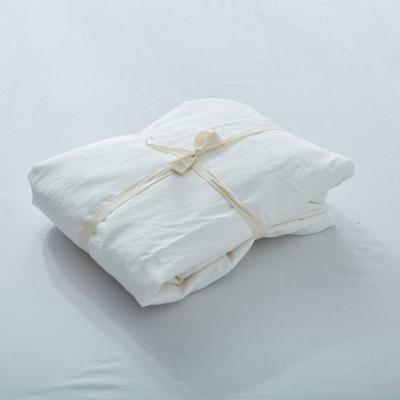 水洗棉单品(纯色系列)-床笠 120cmx200cm 素白纯色