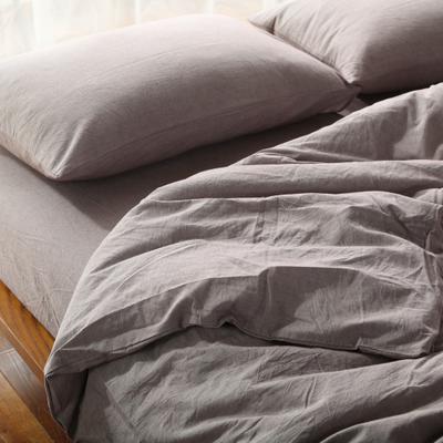 水洗棉四件套(纯色系列) 1.2m床单款(三件套) 豆沙