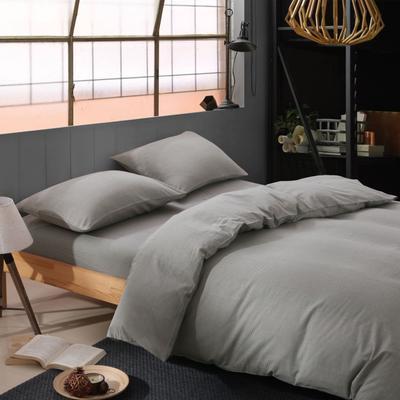 经典全棉色织法兰绒四件套 单品被套 单品枕套 48*74一只 千鸟格-烟灰