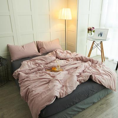 水洗棉四件套 1.2m(4英尺)床 黛粉格