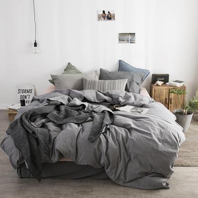 梦之坞   2018新品水洗棉纯色混搭组合四件套 1.2m床笠款三件套 混搭X