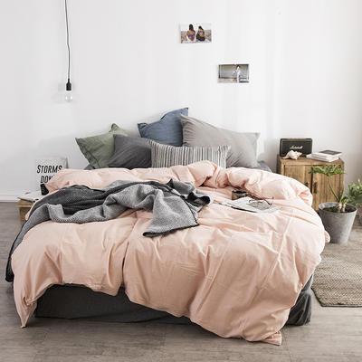 梦之坞   2018新品水洗棉纯色混搭组合四件套 1.2m床床单款三件套 混搭Y