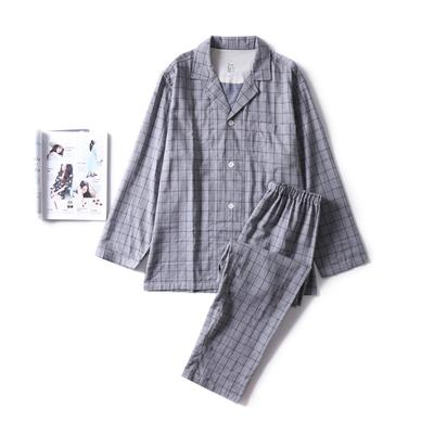 2018新款-色纺灰格家居服(女款) XL码适合体重(140斤内) 色纺灰格