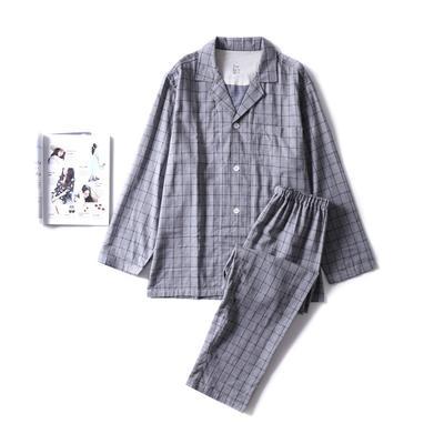 2018新款-色纺灰格家居服(男款) XL码适合体重(180斤内) 色纺灰格