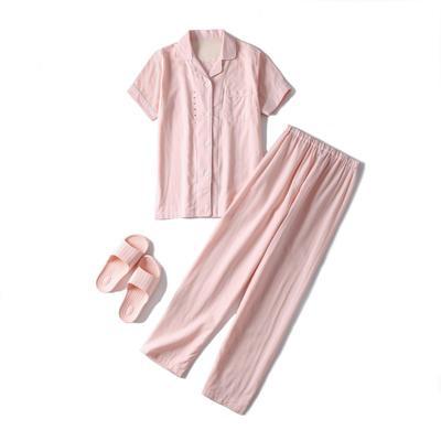 2019新款-双层纱短款(女款) XL码 玉色女款双层纱短袖长裤