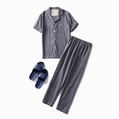 2019新款-双层纱短款(男款) XL码 双层纱短袖长裤