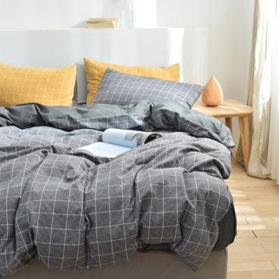 2020新款-段彩四件套 床单款三件套1.2m(4英尺)床 1