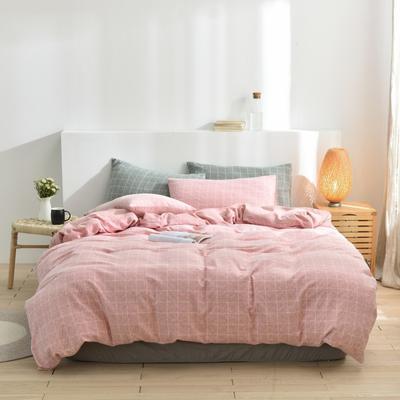2020新款-段彩四件套 床单款三件套1.2m(4英尺)床 3