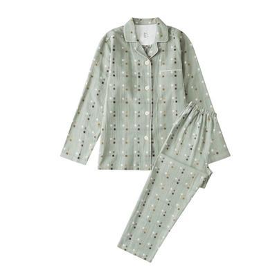 2021新款-四宫格双层纱系列家居服 M码 绿
