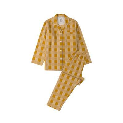 2021新款-星空格 长袖长裤系列 L码 星空格-黄
