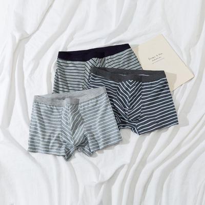 2021新款-男士条纹内裤 XL 一组三条